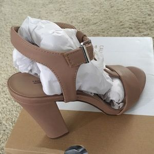Call It Spring Shoes - Brand New Call it Spring Nude Deeks T-Strap Heels